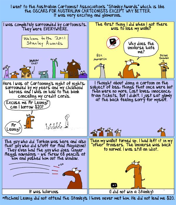 Cartoonists are people too!