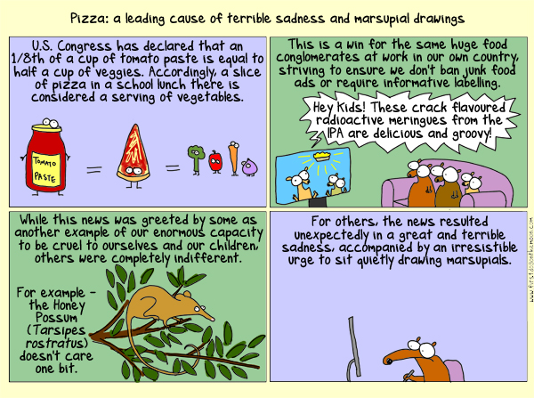 The Honey Possum (Tarsipes rostratus) does not care for your pizza