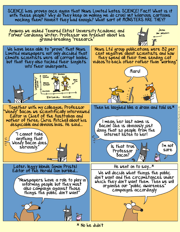 News Limited, Science and your underpants. What every Australian should know!