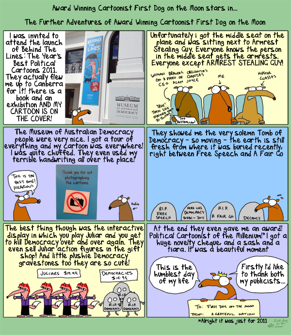 In which First Dog on the Moon visits the Tomb of Democracy