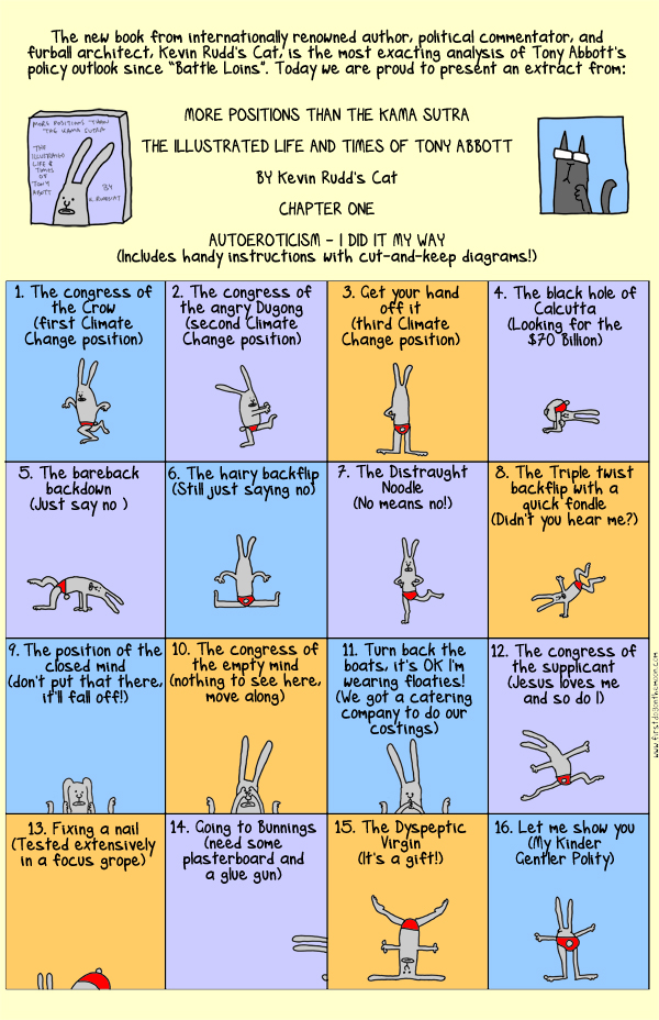 The Illustrated Kama Sutra with your host Tony Abbott