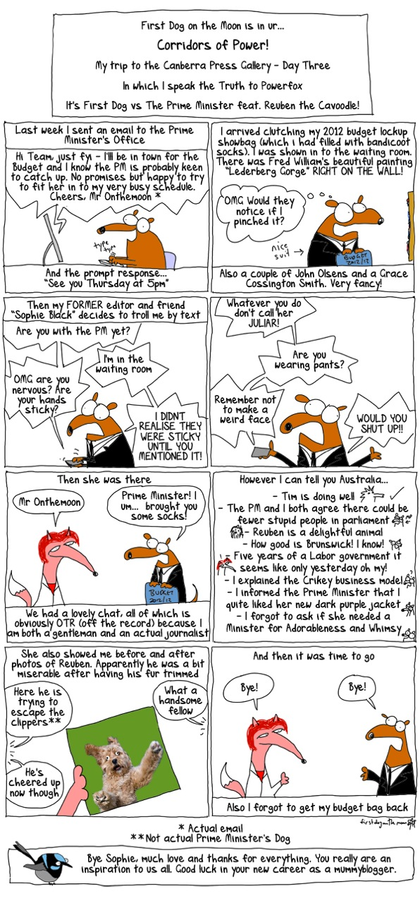 Canberra Day Three – First Dog on the Moon declares class war!