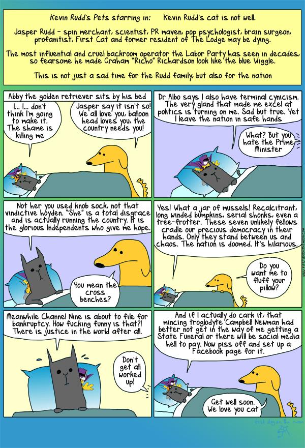 A great Australian, a patriot, a friend, a cat