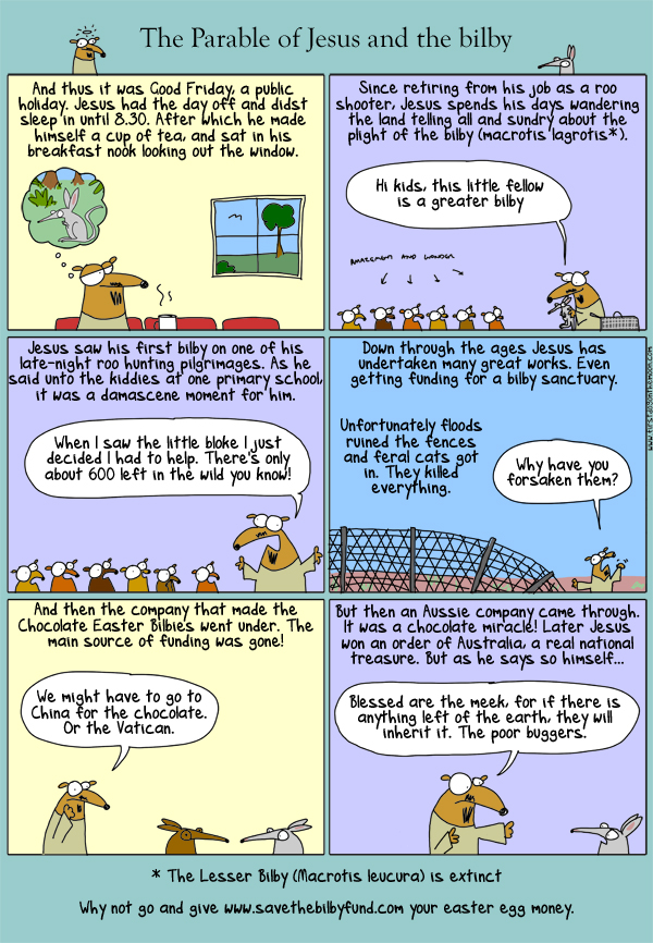The Parable of Jesus and the bilby