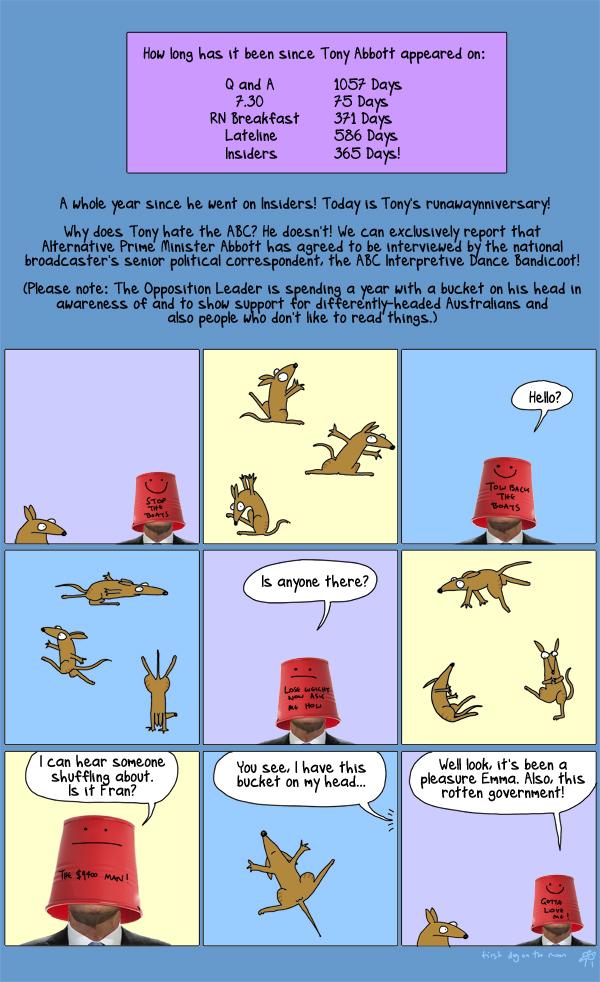 Tony Abbott vs The ABC Interpretive Dance Bandicoot