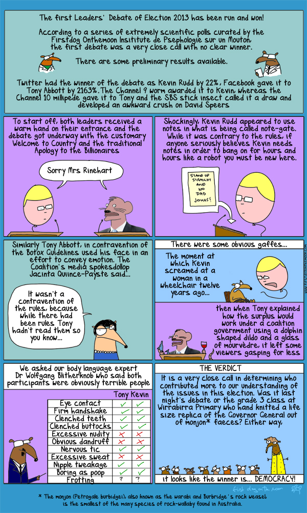 The Rock Weasel and The Democratic Process-A true story.