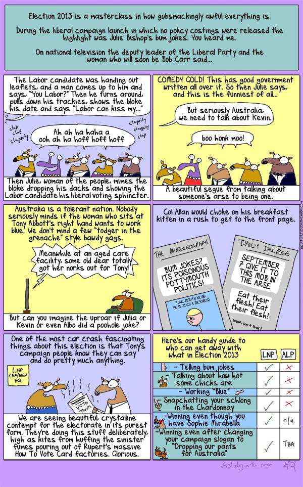 Tony Abbott: Dropping his dacks for Australia!