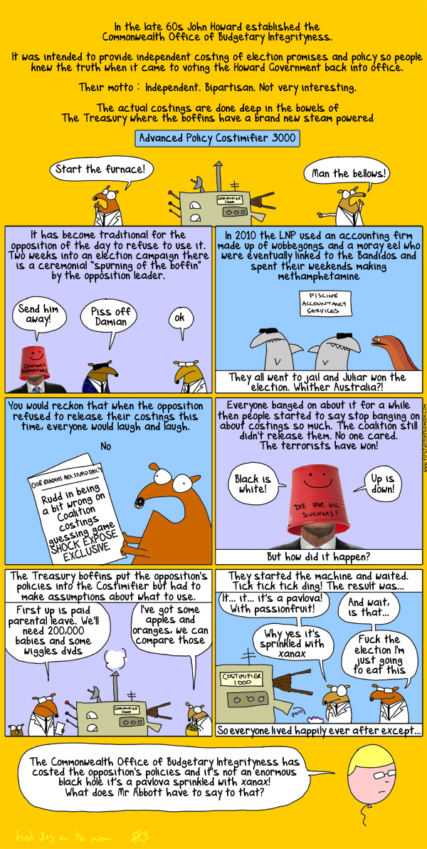 Policy Costing for Dummies: A First Dog Guide