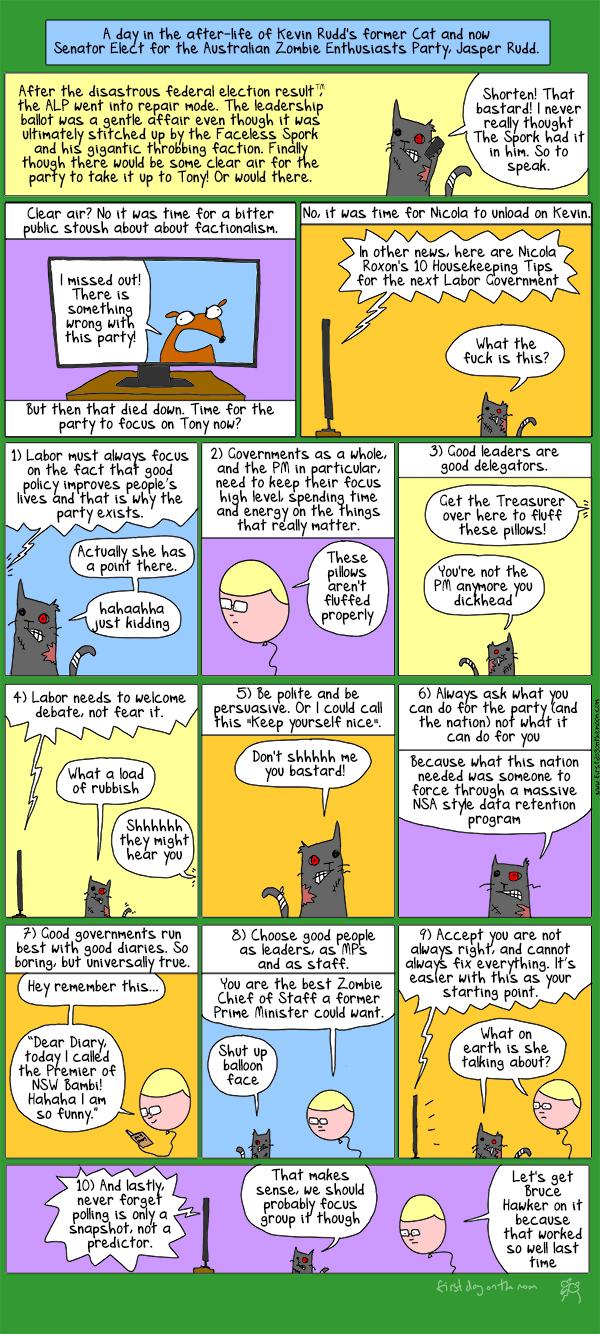 Let's meet Senator Elect of the Australian Zombie Enthusiasts Party, Jasper Rudd