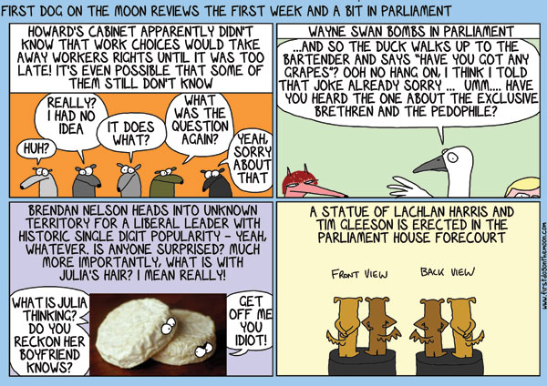 The first week and a bit inParliament