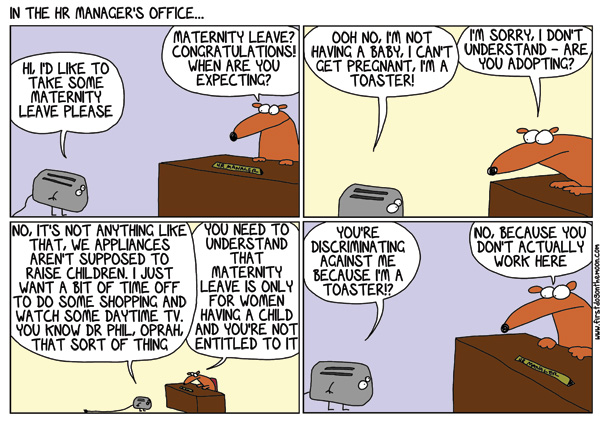In the HR Manager'soffice…