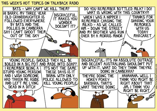 The week's hot topics on talkbackradio…