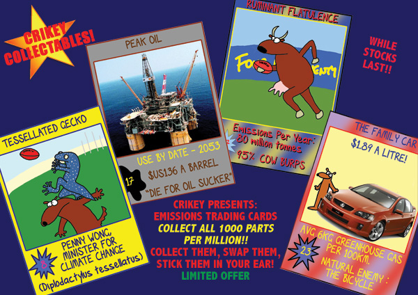 Crikey Collectibles: Emissions TradingCards