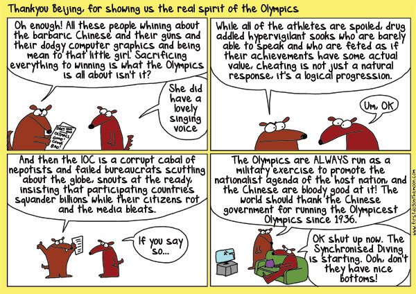 Thank you Beijing, for showing us the real spirit of theOlympics
