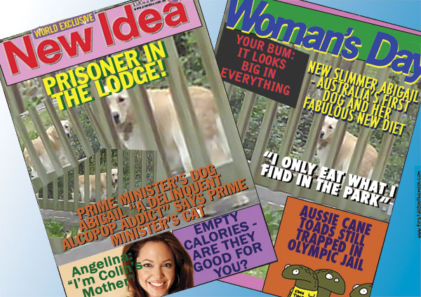 Kevin Rudd's dog and the Glossymags