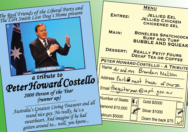 A tribute to Peter HowardCostello…