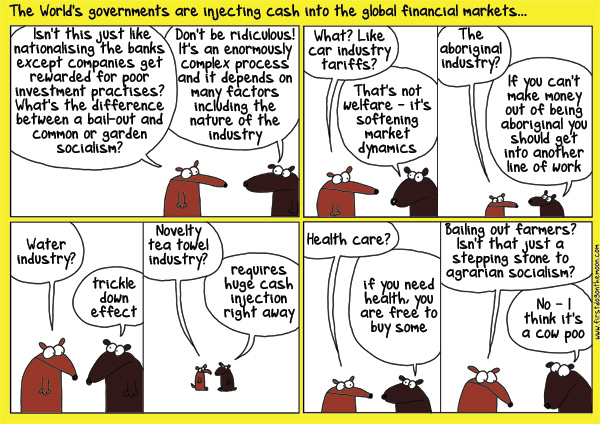 The World's governments are injecting cash into the global financialmarkets…