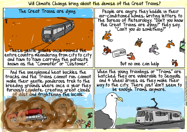Will Climate Change bring about the demise of the GreatTrains?
