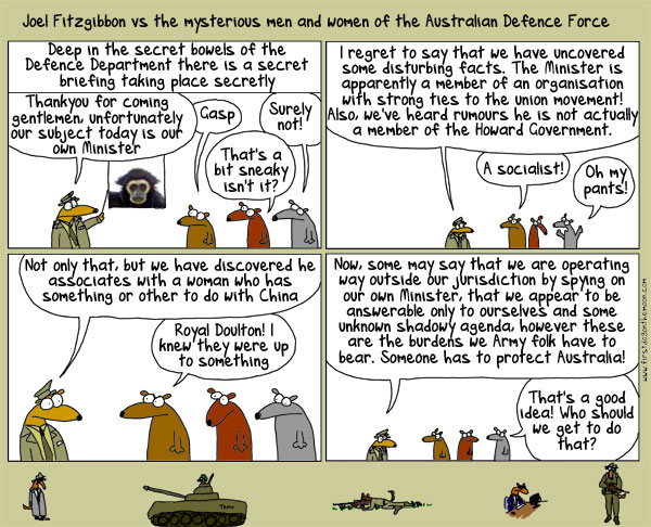 Joel Fitzgibbon vs the mysterious men and women of the Australian DefenceForce