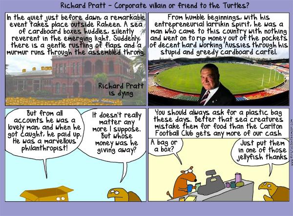 Richard Pratt: Corporate villain or friend to theturtles?