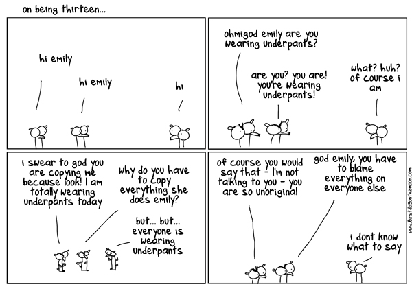 On beingthirteen…