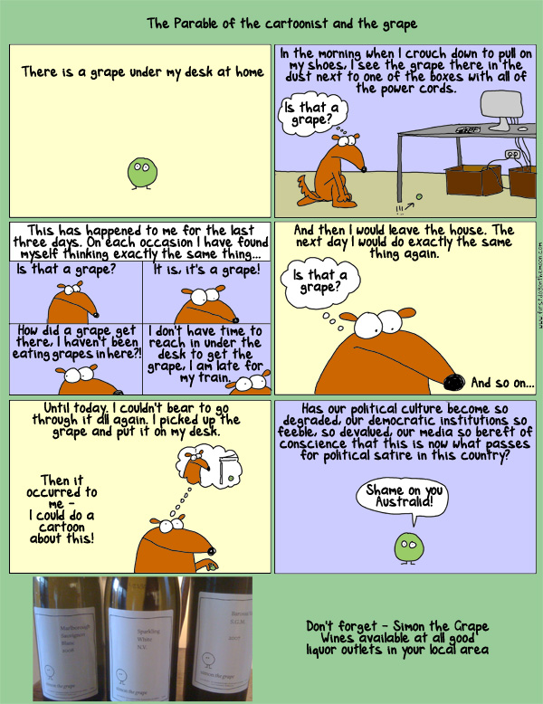 The Parable of the Cartoonist and theGrape