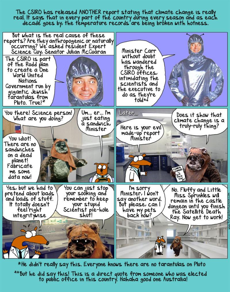 Senator McGuaran vs the Giant Space-Tarantulas fromPluto