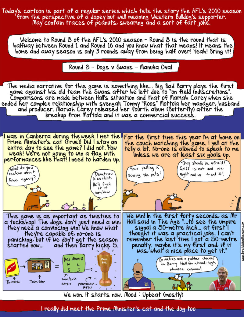 First Dog takes a day off so here is a cartoon about thefooty