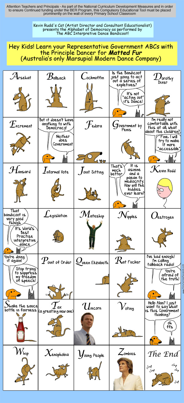 The ABC of Democracy with Kevin Rudd'sCat