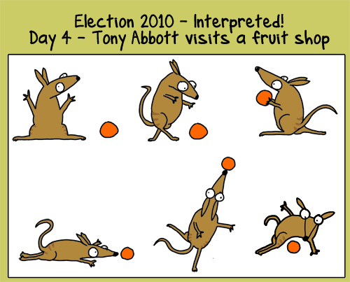 Day 4: Tony Abbott visits a fruitshop