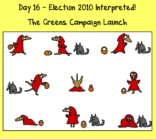 Day 16: the Greens campaignlaunch
