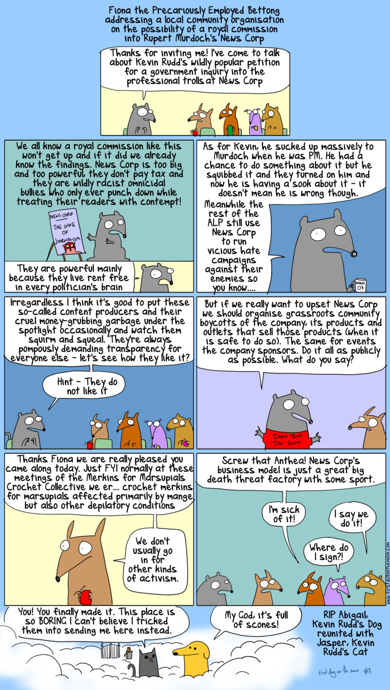 Fiona on Kevin Rudd's wildly popular petition for a royal commission into News Corp