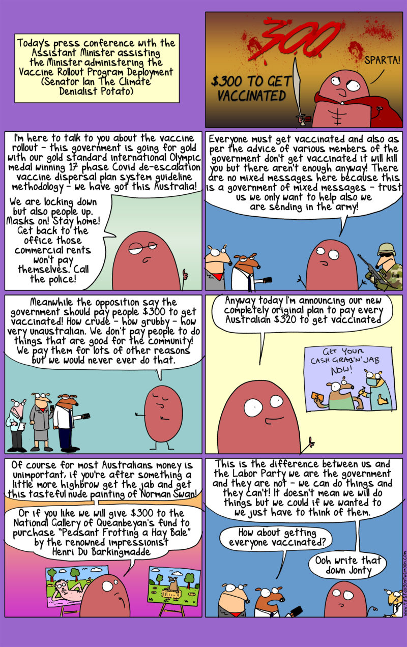 Paying people $300 to get vaccinated? How crude – how grubby – how very unaustralian