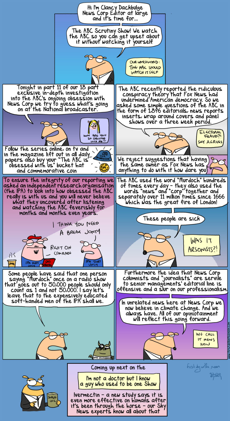 News Corp's 18 part exclusive in-depth investigation into the ABC's ongoing obsession with News Corp
